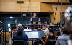 Composer David Newman conducting the Hollywood Studio Symphony