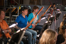 The bassoons record a cue