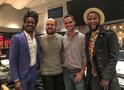 """Nate """"Rocket"""" Wonder, composer Joseph Trapanese, scoring mixer Noah Scot Snyder and singer Roman GianArthur"""