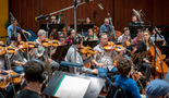 The Hollywood Studio Symphony performs a cue