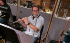 Chris Bleth performs on flute