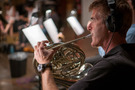 Steve Becknell performs on French horn
