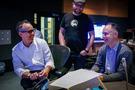 Producer Jonas Rivera, director Josh Cooley, and executive music producer Tom MacDougall