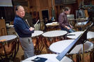 Percussionists Don Williams and Gregory Goodall