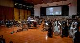Jeff Russo conducts <em>Treadstone</em> at Warner Bros.