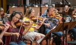 The violins perform on<em>Treadstone</em>