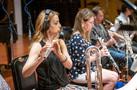 Flutist Sara Andon performs