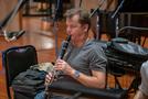 Stuart Clark performs on clarinet