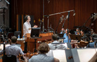 Composer/conductor Jeff Russo records his score for <i>The Umbrella Academy</i> with the orchestra