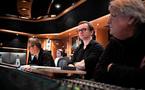 Gareth Coker in the control room at AIR Studios
