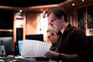 Gareth Coker reviewing the choir score
