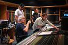 Music producer Peer Åström, score engineer Steve Bishir, producer Adam Anders, and assistant engineer Alex Ferguson