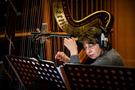 Skaila Kanga performs on harp