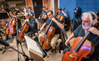 The cello section on <em>A Quiet Place Part II</em>