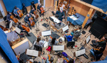 The strings record with conductor / orchestrator Pete Anthony at Pianella Studios
