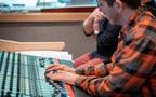 Score mixer / engineer Tyson Lozensky works on the mix
