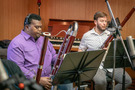 The bassoon section