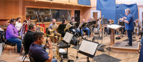 The winds and brass record a cue for <em>A Quiet Place Part II</em>