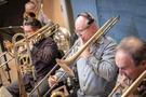 Alex Iles performs on trombone
