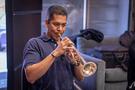 Trumpet player Barry Perkins