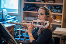 Sara Andon performs on bass flute