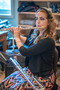 Flute player Sara Andon