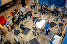 The winds and brass recording session for <em>A Quiet Place Part II</em> at Pianella Studios